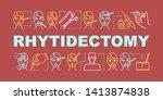 rhytidectomy word concepts...