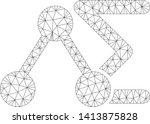 mesh chemical formula polygonal ... | Shutterstock .eps vector #1413875828
