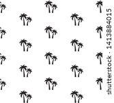 beautifil palm tree silhouette... | Shutterstock .eps vector #1413884015