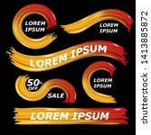 modern colorful flow on black... | Shutterstock .eps vector #1413885872