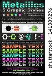 5 metallic graphic styles addon | Shutterstock .eps vector #141389296