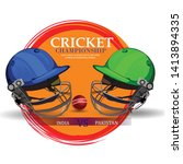 illustration of cricket... | Shutterstock .eps vector #1413894335
