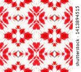 ethnic textile. red  black ... | Shutterstock . vector #1413894515