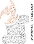 mesh burn manuscript polygonal...   Shutterstock .eps vector #1413895235