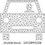 mesh car driver polygonal icon... | Shutterstock .eps vector #1413895238
