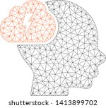 mesh brainstorm polygonal icon... | Shutterstock .eps vector #1413899702
