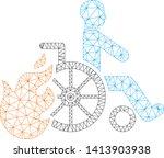 mesh burn patient polygonal...   Shutterstock .eps vector #1413903938
