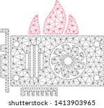 mesh burn video graphics card...   Shutterstock .eps vector #1413903965