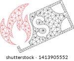 mesh burn dollar banknote...   Shutterstock .eps vector #1413905552