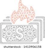 mesh burn banknotes polygonal...   Shutterstock .eps vector #1413906158