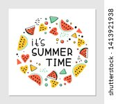 it s summer time hand drawn... | Shutterstock .eps vector #1413921938