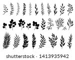 set of tree branches ... | Shutterstock . vector #1413935942