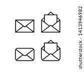 mail linear icons  open and... | Shutterstock .eps vector #1413946982