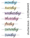 Hand Lettered Days Of The Week...