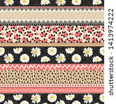seamless pattern with...   Shutterstock .eps vector #1413974222