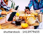 closeup of group of people... | Shutterstock . vector #1413979655