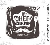 cook doodle logo. restaurant... | Shutterstock .eps vector #1413988802