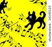 musical theme. child. | Shutterstock .eps vector #14140123