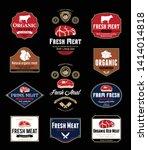 vector meat store and butchery... | Shutterstock .eps vector #1414014818