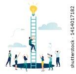 vector illustration  a man... | Shutterstock .eps vector #1414017182
