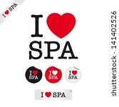 i love spa  font type with... | Shutterstock .eps vector #141402526