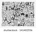 doodle network element cartoon... | Shutterstock .eps vector #141402556
