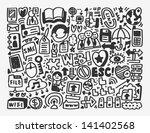 doodle network element cartoon... | Shutterstock .eps vector #141402568