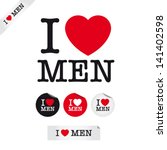 i love men  font type with... | Shutterstock .eps vector #141402598