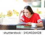 worried student trying to... | Shutterstock . vector #1414026428