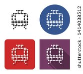 dotted icon of tram in four... | Shutterstock . vector #1414038512