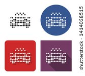 dotted icon of taxi car in four ... | Shutterstock . vector #1414038515