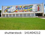 Small photo of BIOT, FRANCE-JUNE 07: Fernand Leger museum facade shown in june 07, 2013 in Biot French Riviera. The museum possesses a wide collection of paintings and ceramics of this major artist of modern art.