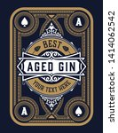 old gin label for packing  ... | Shutterstock .eps vector #1414062542