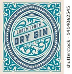 vintage gin label for packing   ... | Shutterstock .eps vector #1414062545