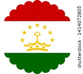 flag of tajikistan illustration ... | Shutterstock .eps vector #1414072805