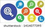 seek icon set. 9 filled seek... | Shutterstock .eps vector #1414077395