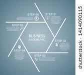 business infographics  hexagon... | Shutterstock .eps vector #1414090115