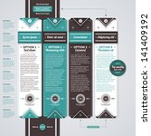 four vertical banners in retro... | Shutterstock .eps vector #141409192