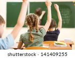 school children in classroom at ... | Shutterstock . vector #141409255