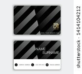 luxurious business card design. ... | Shutterstock .eps vector #1414104212