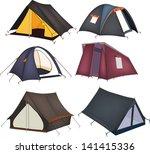 set of tourist tents | Shutterstock .eps vector #141415336