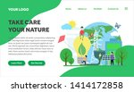 ecology and environment... | Shutterstock .eps vector #1414172858