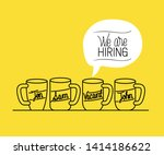 set mugs drinks with we are... | Shutterstock .eps vector #1414186622