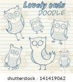 Cute Cartoon Owl Stylish...