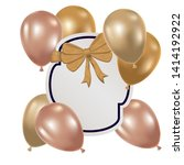 frame with helium balloons on... | Shutterstock .eps vector #1414192922