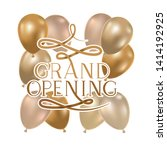 grand opening label with helium ... | Shutterstock .eps vector #1414192925