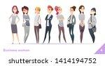business women character design ... | Shutterstock .eps vector #1414194752
