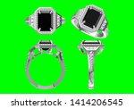 wedding ring on green...   Shutterstock . vector #1414206545