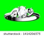 wedding ring on green...   Shutterstock . vector #1414206575