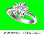 wedding ring on green...   Shutterstock . vector #1414206578